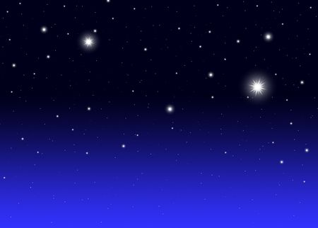 Night sky with a stars gradient illustration Stock Photo