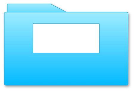 Blue folder illustration with blank area isolated over white background Stock Illustration - 5232371