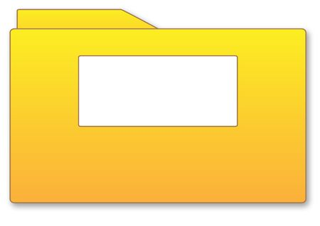 tally: Yellow folder illustration with blank area isolated over white background Stock Photo