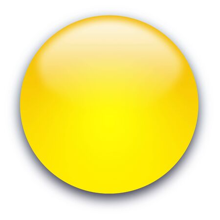 rounded circular: Glossy round empty button isolated over white background
