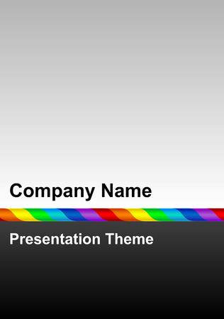 arial: Simple corporate presentation template with rainbow line and dark grey background