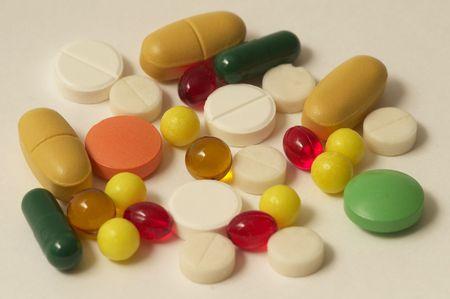 Kolorowanie błyszczący multi zaokrąglone witaminy nasenne makro shot