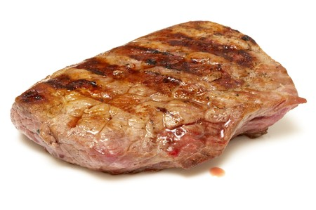 Grilled beef steak isolated over white background Stock Photo - 7023777
