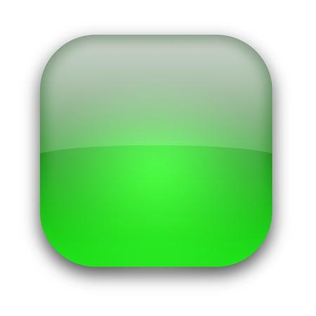 Błyszczący pusty przycisk samodzielnie nad białym tłem Zdjęcie Seryjne