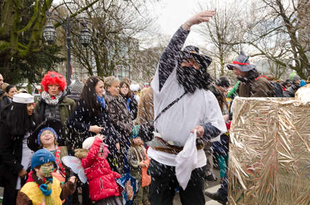 D�sseldorf Helau  � Dusseldorf 1  of March 2014 � People at a carnival parade called Youth procession or Jungendumzug in Dusseldorf, Germany  This event that takes place every year