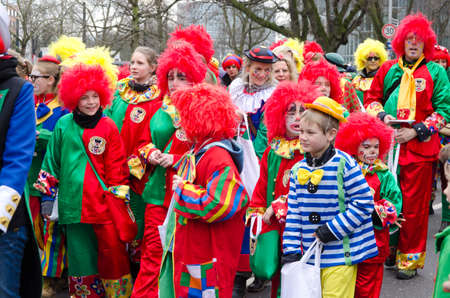 Düsseldorf Helau  – Dusseldorf 1  of March 2014 – People at a carnival parade called Youth procession or Jungendumzug in Dusseldorf, Germany  This event that takes place every year