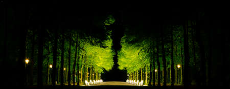 rhine westphalia: Dusseldorf 25  of April 2014 � Dusseldorf city park by night Editorial