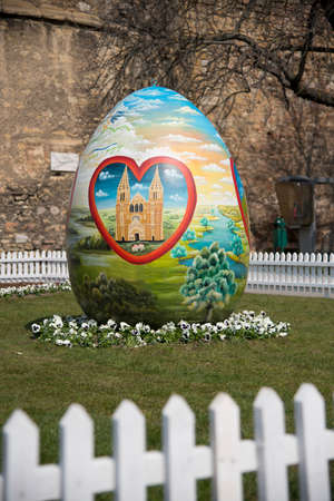 giant easter egg: Zagreb, Croatia – Circa. March 2016: Giant Easter Egg in Upper Town Zagreb, Croatia Editorial