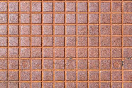 steel plate: old brown rusty metallic textured surface Stock Photo