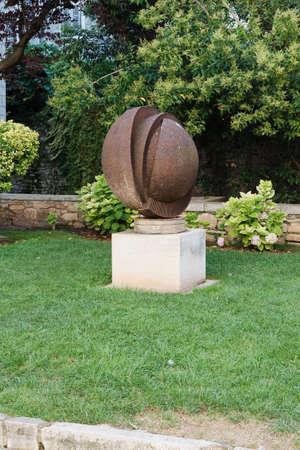 green park: Porec, Croatia - Circa 2016: Sculpture in the streets of the old town of Porec, Croatia Editorial