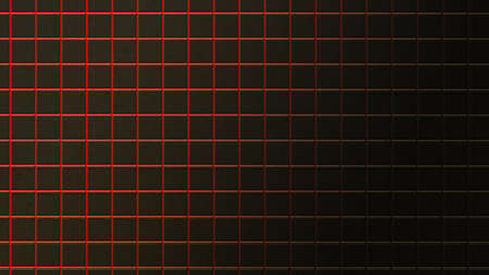 of them: abstract background of black rusty tiles with red light between them Stock Photo