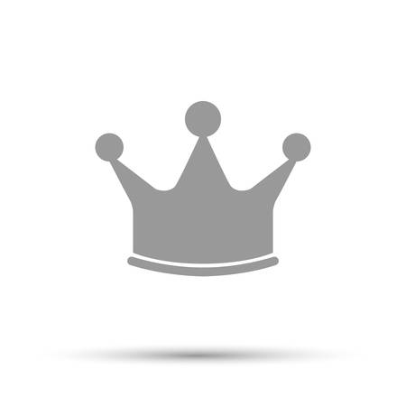 Crown icon, illustration. Flat design style. White background Illustration