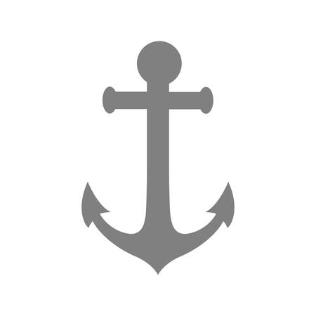The gray anchor icon is depicted on a white background.