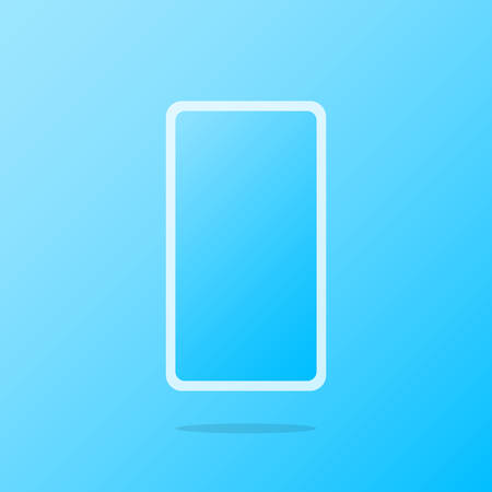 A simple phone icon is depicted on a blue background.