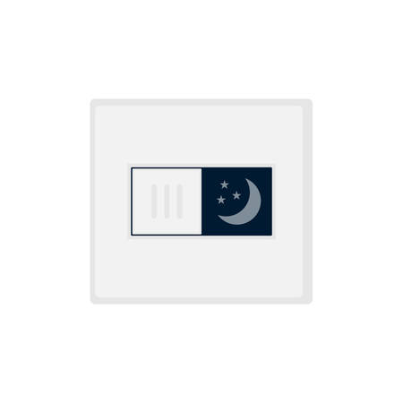 Gray switch of the night switches on the white background. Ilustrace