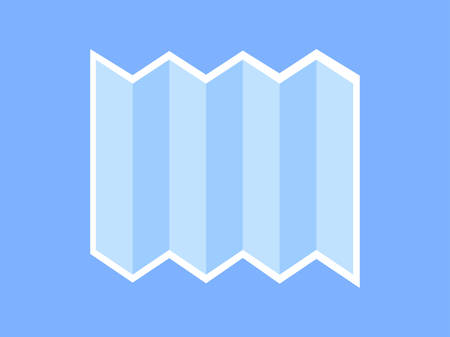 A plain sheet of paper is depicted on a blue background. Ilustrace