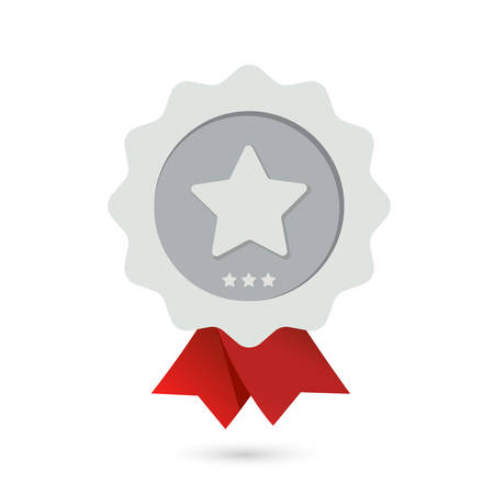 Silver star award on a white background. Ilustrace