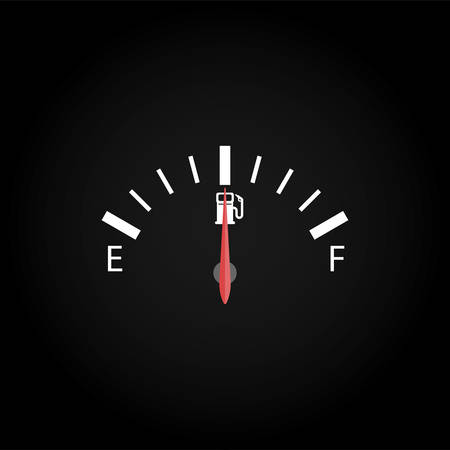 One tachometer with center index on black background. Ilustrace