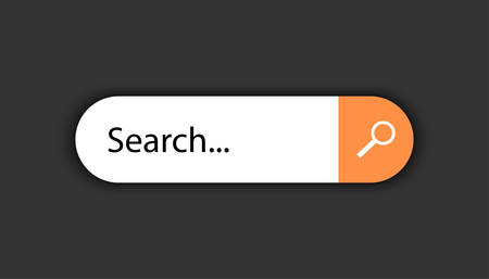The field of the search engine of the Internet. Ilustrace