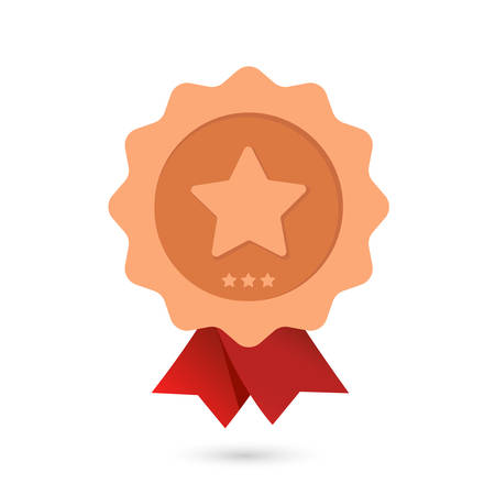 Bronze award with a star on a white background.