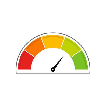 Speedometer icon. Info-graphic. Position from the right in the middle.  イラスト・ベクター素材