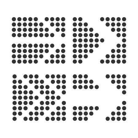 Four arrows of different kinds of black color on a white background. Reklamní fotografie - 132813938
