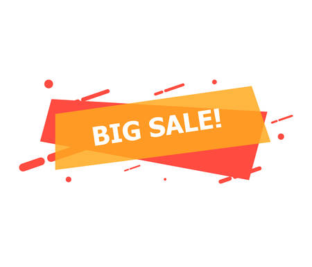 The banner with Big Sale is depicted on a white background. Reklamní fotografie - 132814060