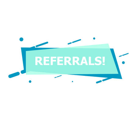 The banner with Referrals is depicted on a white background.