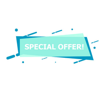 The banner with Special Offer is depicted on a white background. Reklamní fotografie - 132814126
