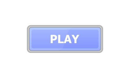 The blue button on which the text is written: PLAY is depicted on a blue background.