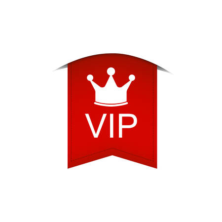 The red tape on which is written Vip is depicted on a white background.