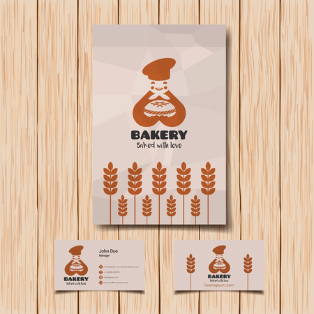 bread shop: icon inspiration for shops, companies, advertising or other business. Illustration, graphic elements editable for design.