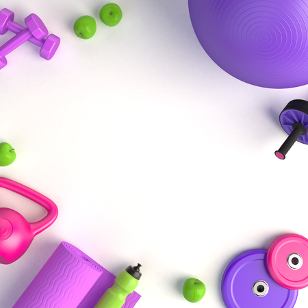 Female fitness concept 3d illustration Reklamní fotografie