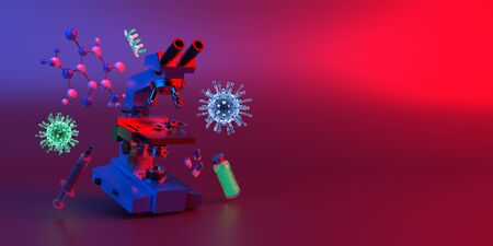 3d illustration corona viruses medical science concept Reklamní fotografie