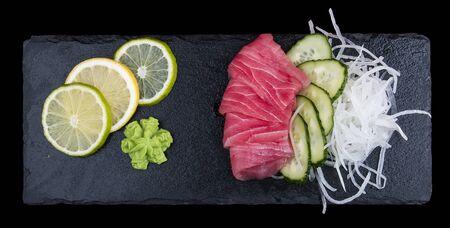 Sashimi tuna. On dark background 스톡 콘텐츠 - 131591502