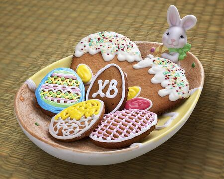 Easter cakes on a plate