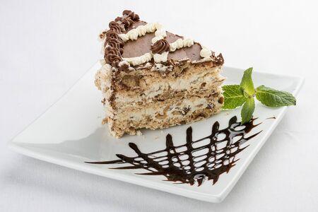 Kiev cake. On a white background