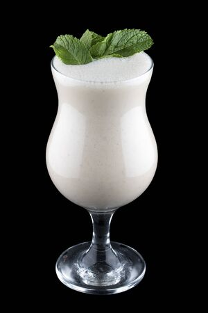 Milk shake on dark background