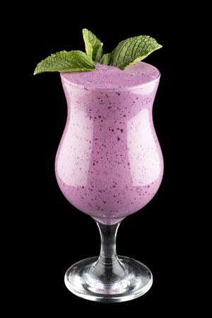 Currant smoothie on dark background