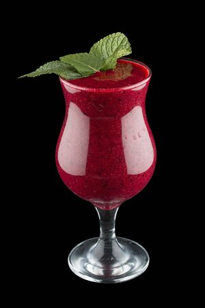 Berry smoothie on dark  background 스톡 콘텐츠