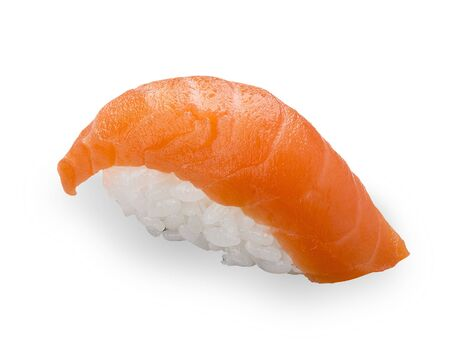 Salmon sushi on a white background. Nigiri Stock fotó