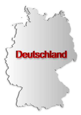A simple 3D map of Germany. Vector
