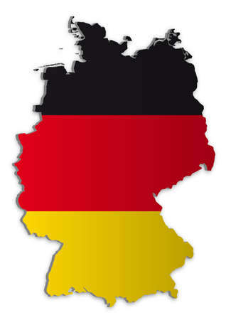 A simple 3D map of Germany. Stock Vector - 6758440