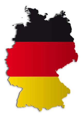 deutschland karte: Einfache 3D Karte von Deutschland.  Illustration
