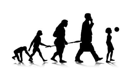 origen animal: Una ilustración abstracta de una futura evolución humana.
