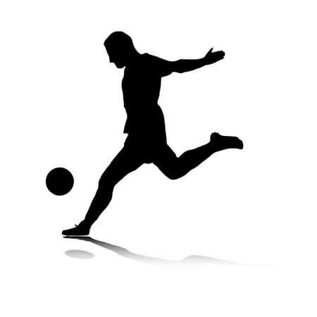 footballer: Illustration of a striker's shot.