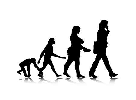 being: An abstract illustration of human evolution.