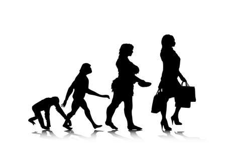 prehistoric: An abstract illustration of human evolution.