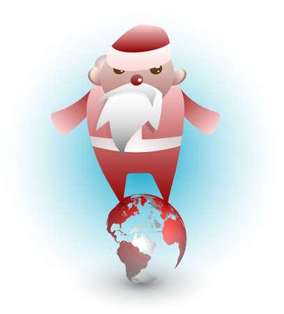 Un Babbo Natale occupato, ha sottolineato collega persone in tutto il mondo.