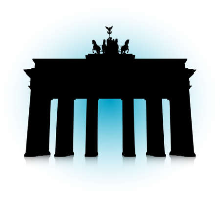east berlin: An abstract vector illustration of the Brandenburg Gate. Illustration